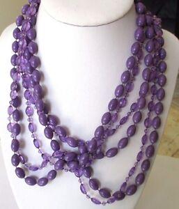 Exceptionnel-grand-collier-sautoir-bijou-vintage-2-rangs-perles-violettes-630