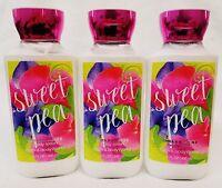 3 Bath & Body Works Sweet Pea Body Lotion Cream Moisturizer 8 Oz