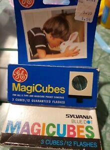 Vintage Mixed Lot of Sylvania Blue Dot GE Magic Flash Cubes Flashcubes