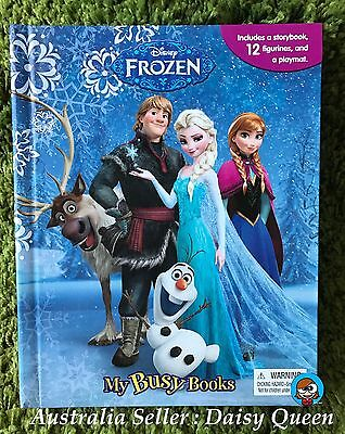 Disney Frozen Elsa Anna My Busy Book ( Storybook , 12 Figurines & Playmat ) Toy