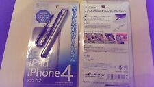 Sanwa Universal SILVER Stylus 110mm iPhone/iPad/touch/tablets smartphones ~NEW~