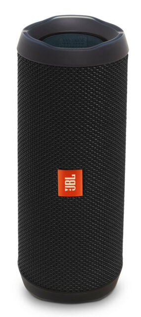 New JBL - Portable Bluetooth Speaker - FLIP4 BLACK