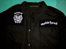 Motorhead Ace Of Spades War-Pig Bomber Overkill Vintage Black Army Jacket Shirt