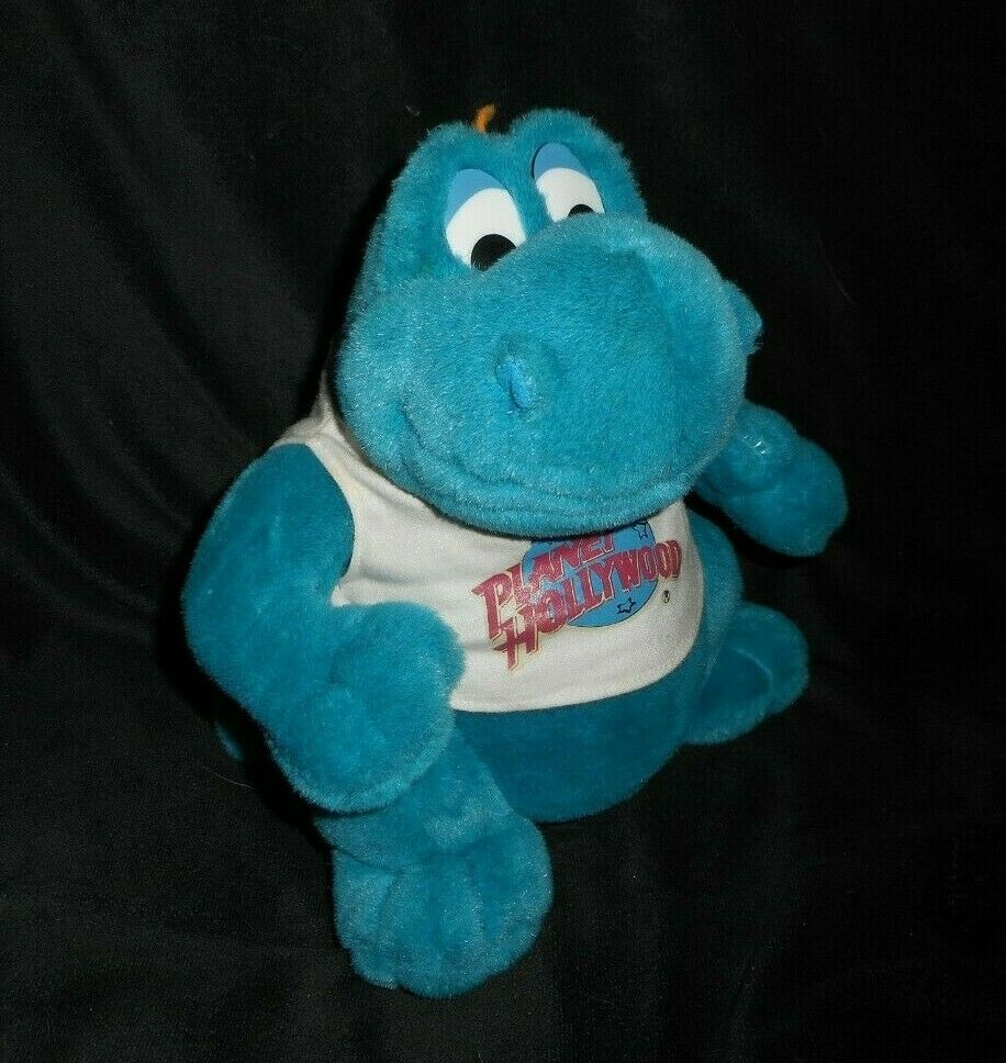 VINTAGE PLANET HOLLYWOOD BUBBA blueE BABY DRAGON MUSICAL STUFFED ANIMAL PLUSH TOY