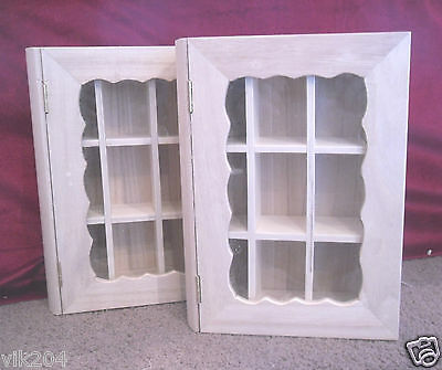 UNFINISHED WOODEN BOOK STYLE BOXES WITH FIXED DIVIDERS TOP ACRYLIC ART CRAFT