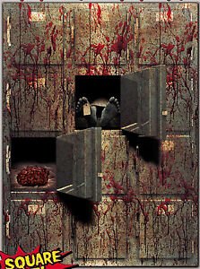Bloody Horror GIANT MORGUE WALL GORE DECOR Halloween Prop - Scary Halloween Wall Decor