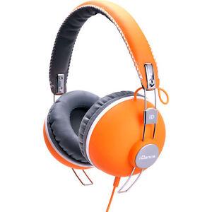 Auricular-Idance-Hipster-704-Naranja-Blanco-Compatible-IPod-Tactil