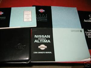 Image Is Loading 1994 NISSAN ALTIMA OWNERS MANUAL 94 OWNER 039