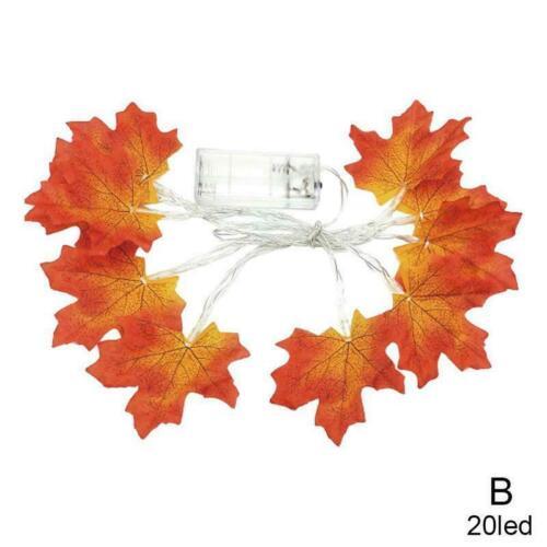 Ahornblätter fallen Girlande String Licht Dekor Halloween LED 20.10.40 U7T4
