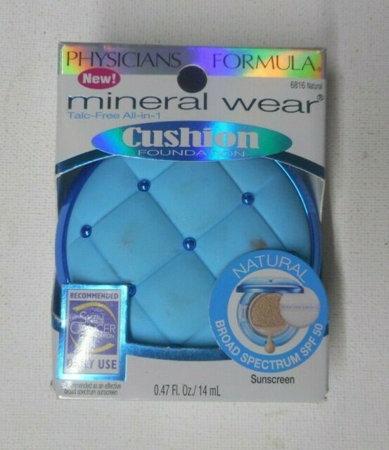 Physicians Formula Mineral Wear Cushion Foundation Spf50 Natural 0 47 Oz