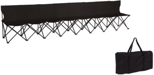 Canapé 8 places noir repliable Sideline chaise dos Portable Sports d/'équipe banc de