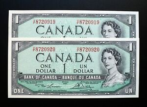 1954-BANK-OF-CANADA-1-set-of-2-Lawson-amp-Bouey-CHANGEOVER-V-F-PREFIX-BC-37d