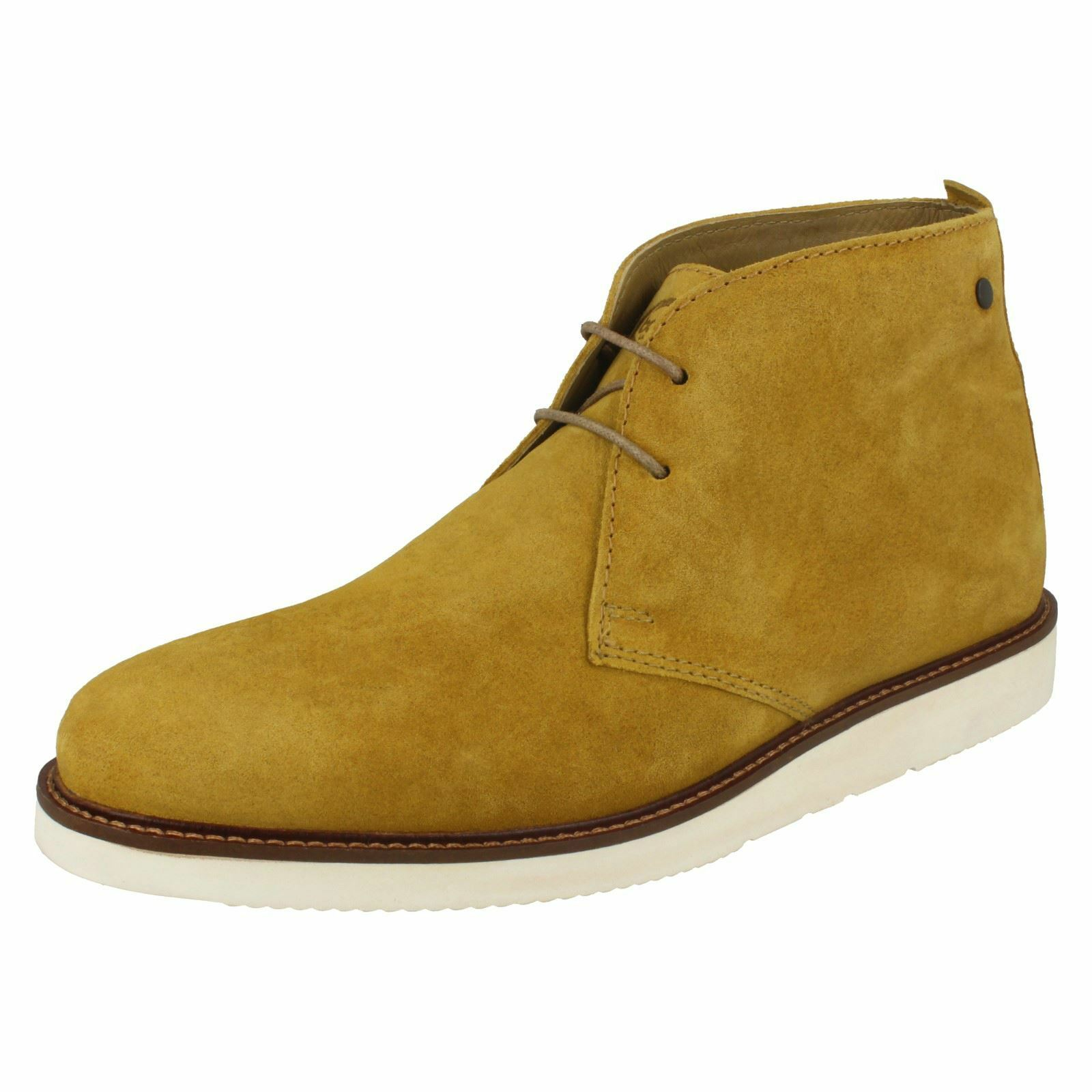 Base London 'Cobden Men's Suede Mustard Chukka Boots