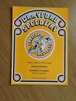 Crayford V Canterbury Speedway Programme 24/04/79