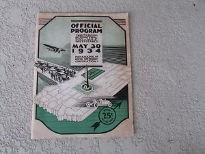 Original-1934-Indy-500-race-program-Louis-Meyer-Wilbur-Shaw-vintage-ads-coke-G