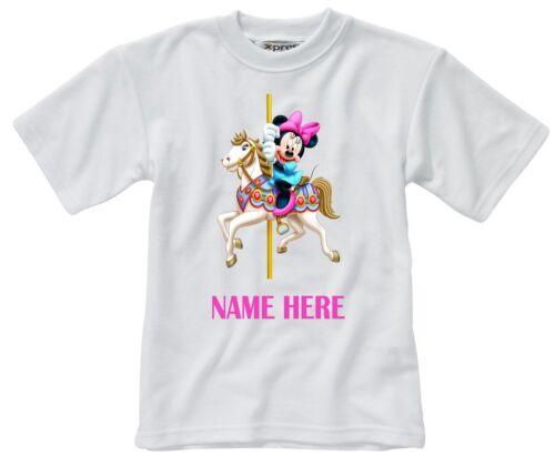 Minnie Mouse Carousel Ride Personnalisé Enfant T-Shirt