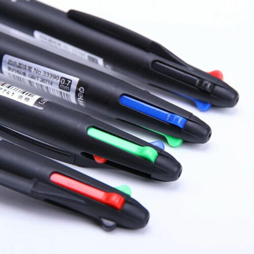 Colorful 4 in 1 0.7mm Red Green Blue Black Refill Ballpoint Pen School Office