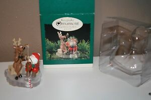 4 Ornaments Hallmark Keepsake Ornament Collectors Club 1995 Set