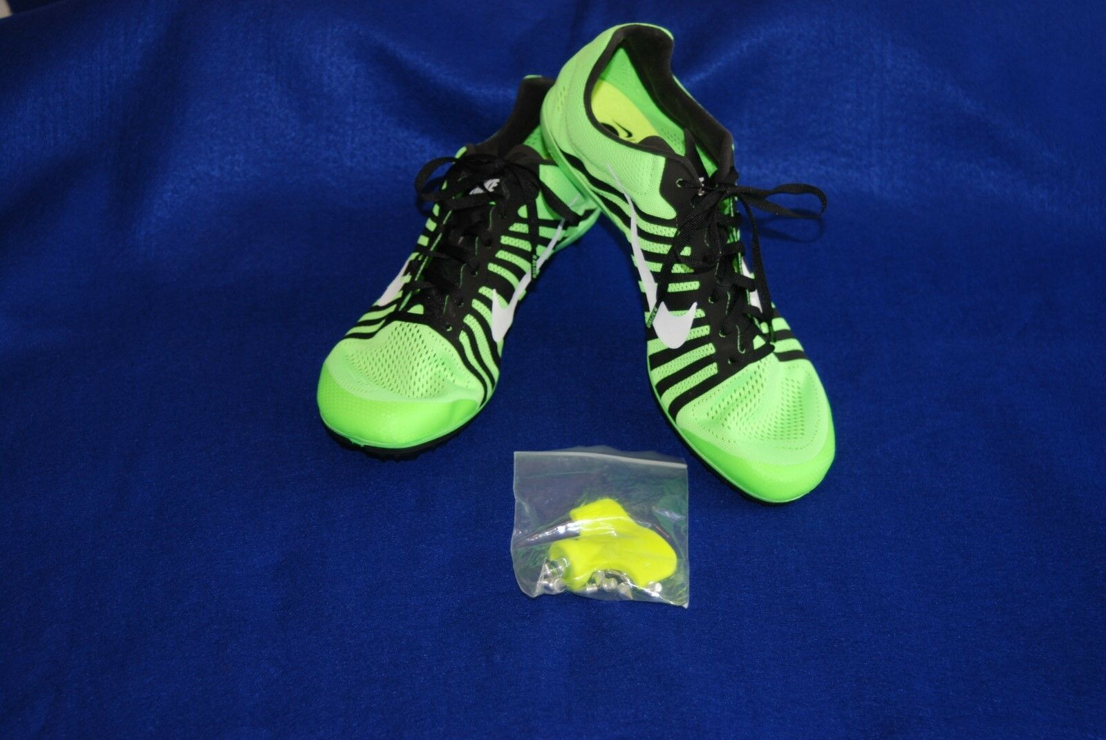 Nike Men's Zoom D Track and Field Spikes 819164-301 Voltage Green Size 14 NWOB