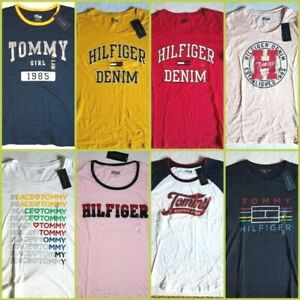 TOMMY-HILFIGER-Mujer-Graphic-T-shirt-Grafico-Camiseta-Elige-Tu-Color