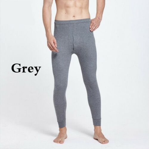 Men Cotton Long Johns Loungewear Pajamas Bottom Trouser Pant Underwear Nightwear