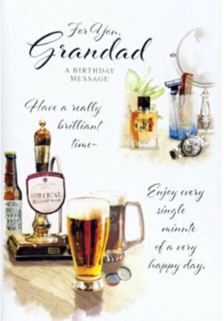Open ~For you Grandad ~ Uncle Birthday Card ~ By Simon Elvin ~ Free P&P