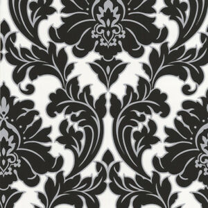 Image Is Loading Superfresco Easy Paste The Wall Majestic Damask Black