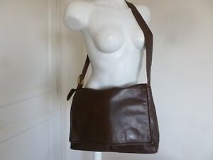 Plonge Besace David Cuir Grande Superbe Marron Sac Be William