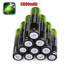 10*3.7V 5800mAh Li-ion 18650 Rechargeable Battery For Flashlight From USA LION