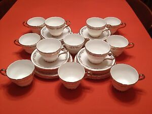 1950039s Bone China 12 setting Tea service 36 pieces - <span itemprop=availableAtOrFrom>Selby, United Kingdom</span> - 1950039s Bone China 12 setting Tea service 36 pieces - Selby, United Kingdom