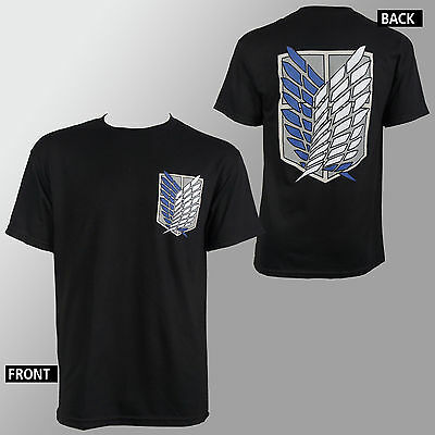 Authentic ATTACK ON TITAN  SD Surver Corps T-Shirt S M L XL XXL NEW Anime