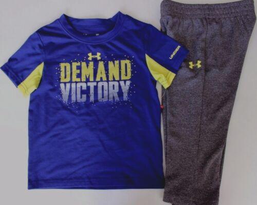 Under Armour 24 M demanda Victory 2 Pc Novo com etiquetas Camiseta Calça Top