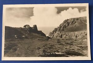Vintage Postcard Cliffs At Tol Pedn Penwith. Hawke 6641 Real Photo RP