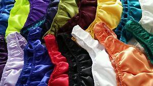 Mens-Charmeuse-Satin-Bikini-Rio-or-Thong-Brief-Pouched-S-M-L-or-XL-shiny-handmad