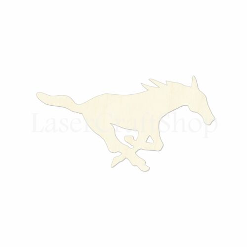 Silhouette Tags Ornaments Laser Cut #1342 Running Horse Wooden Cutout Shape