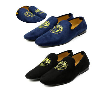Mens-Velvet-Slip-On-Casual-Shoes-Smart-Walking-Style-Loafers-Driving-Moccasin-UK