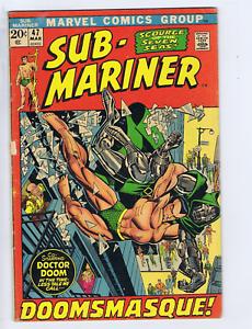 Sub-Mariner #47 Marvel 1972 Doomasque !