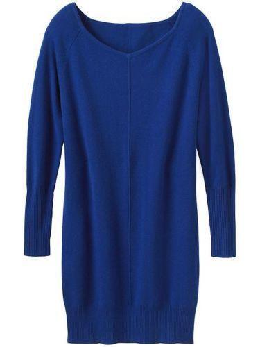 ATHLETA Cashmere Adi Mudra Dress, EUC, Medium, Sapphire, MSRP , So Soft