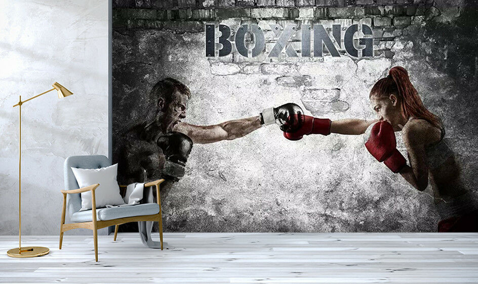 3D Boxing Woman 97 Wall Paper Exclusive MXY Wallpaper Mural Decal Indoor Wall AJ