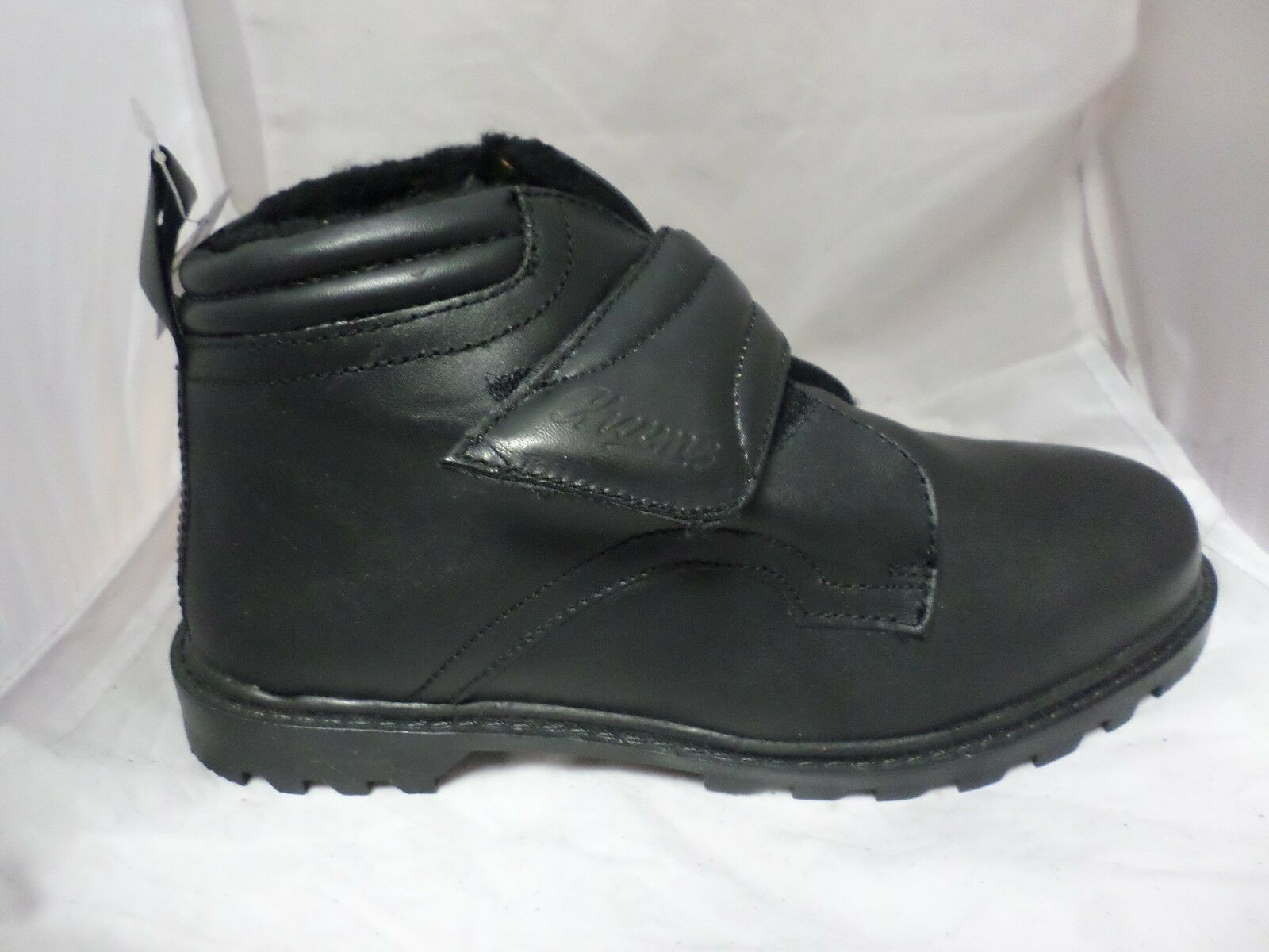 Chums Leather Touch  Fastening Boot Black rrp  Touch LN04 25 SALEw ac4c6a
