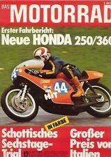 M7412 + Fahrbericht HONDA CB 250 / 360 + Montesa MC 250 + DAS MOTORRAD 12/1974