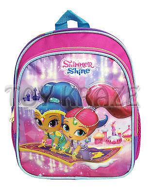 "SHIMMER & SHINE TODDLER BACKPACK! PINK MAGIC CARPET SMALL SCHOOL BAG 10"" NWT"