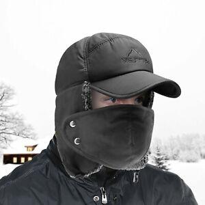 Aviator Trapper Hat Trooper Ear Flaps Bomber Russian Warm Winter Windproof Cap