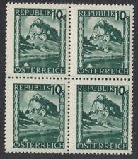 Österreich 745 Viererbl Freimarken Landschaften  Hochosterwitz (Kärnten) 1945 **