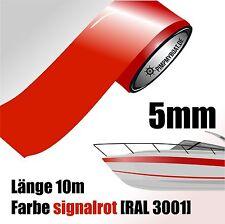 ZIERSTREIFEN 10m SIGNALROT 5mm Auto Boot Jetski Modellbau Vinyl Dekorstreifen