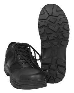 Ehrlichkeit Mil-tec Security Halbschuhe Schwarz Leder Lederschuhe Schuhe 39-47 Strukturelle Behinderungen