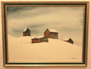 Artwork-Original-Watercolor-by-Earnest-Signed-Custom-Framed