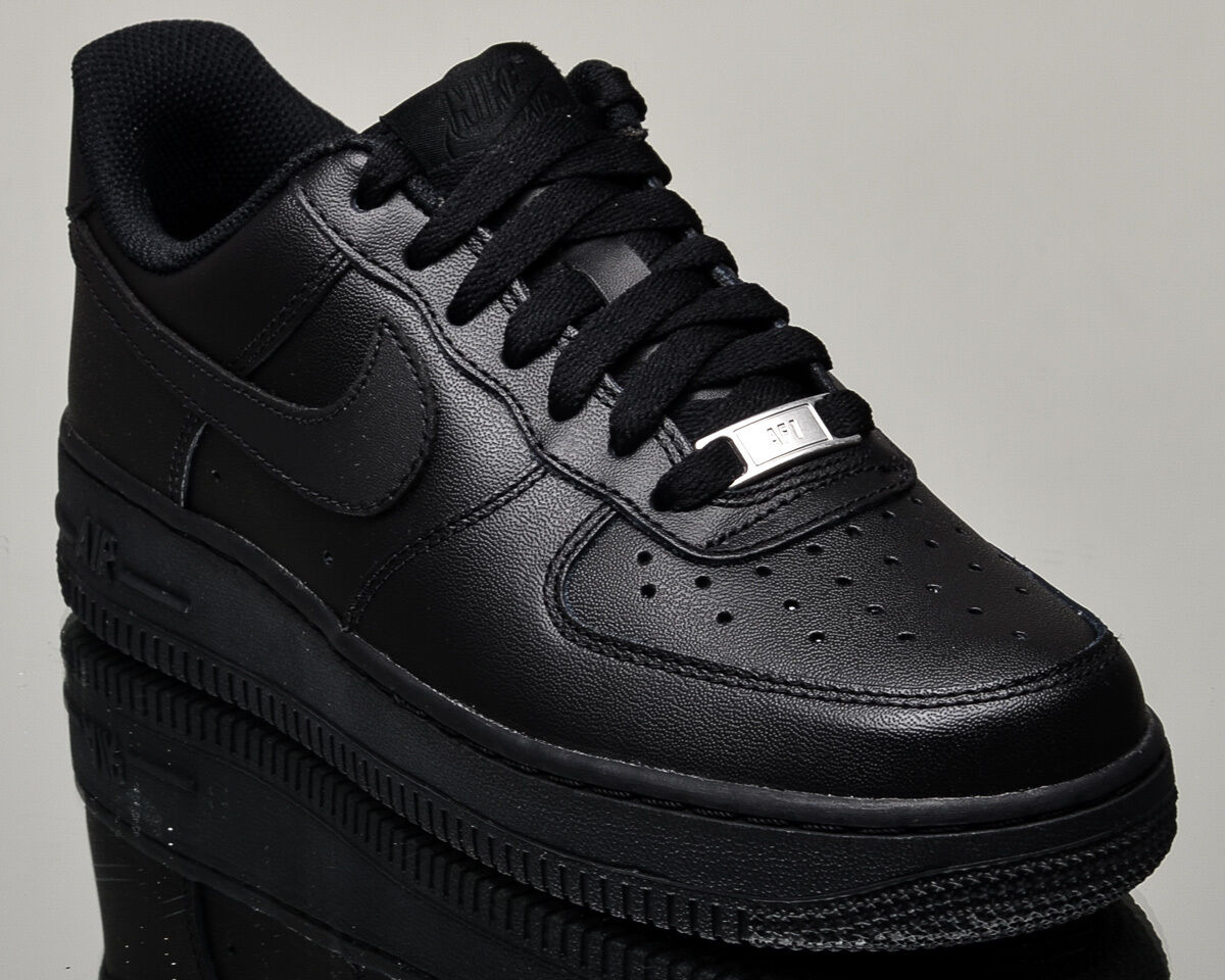 Nike WMNS Air Force 1 07 Low women lifestyle sneakers NEW all black 315115-038