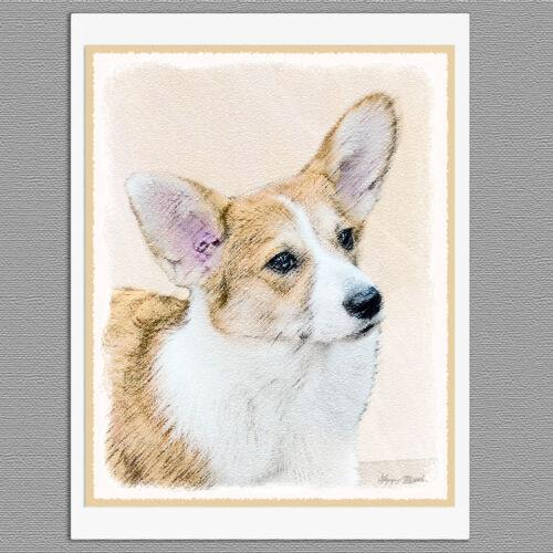 6 Pembroke Welsh Corgi Blank Art Note Greeting Cards