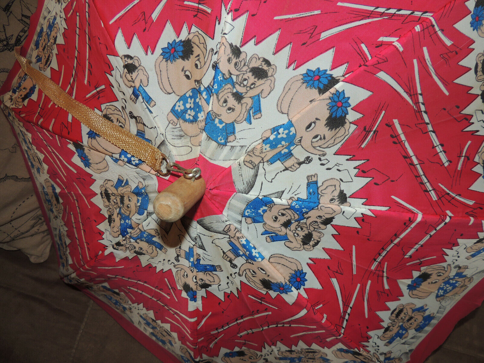 Vintage Mid-century 60s 70s Red Yellow Blue Wht M… - image 2